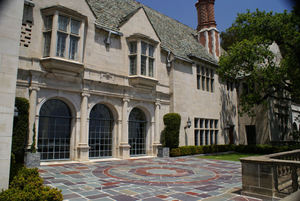 A view of Greystone Mansion