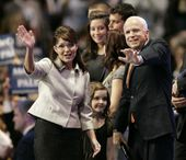 palin mccain wave