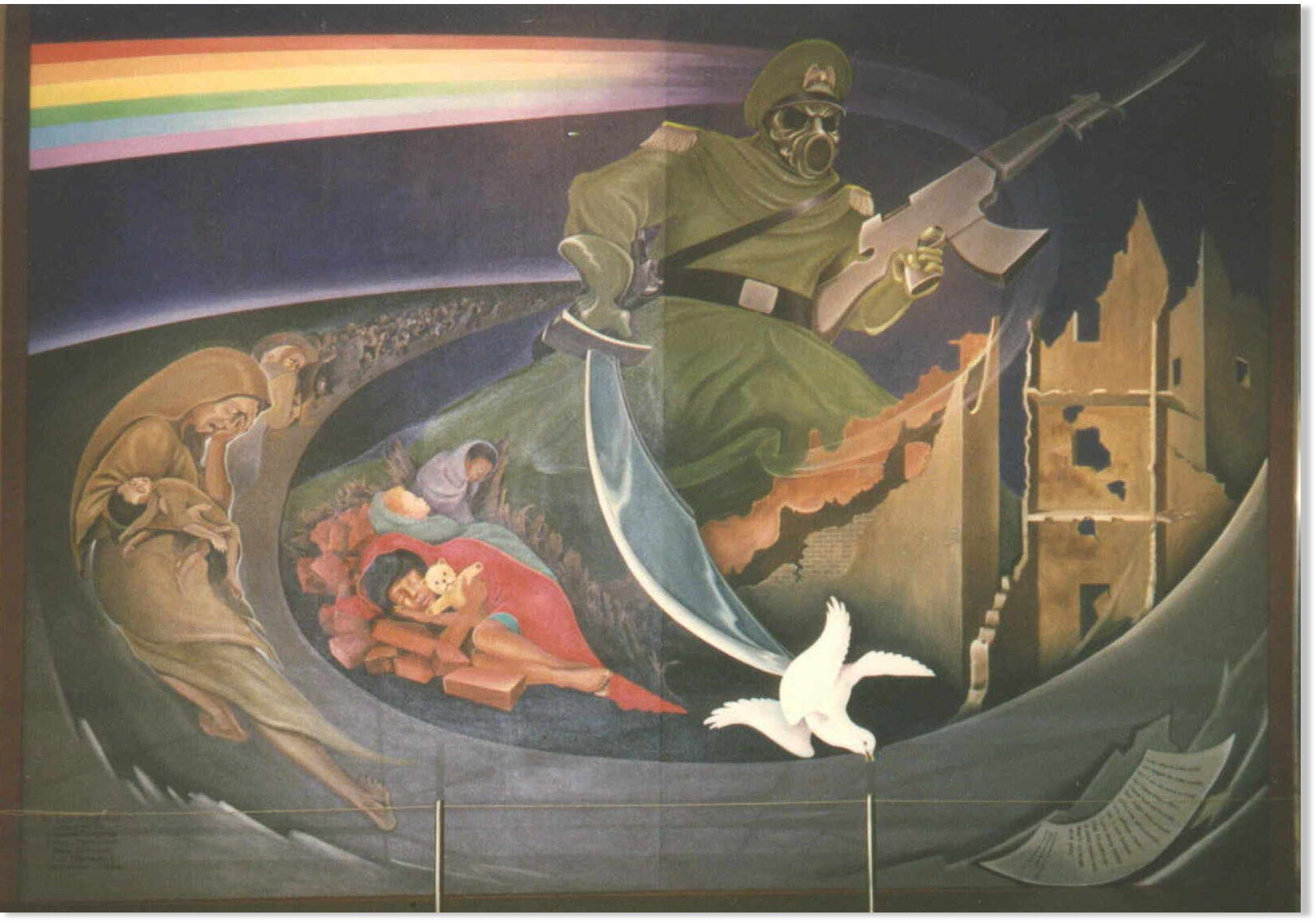 Connecting the dots the war of terror and zionism take for Denver mural airport