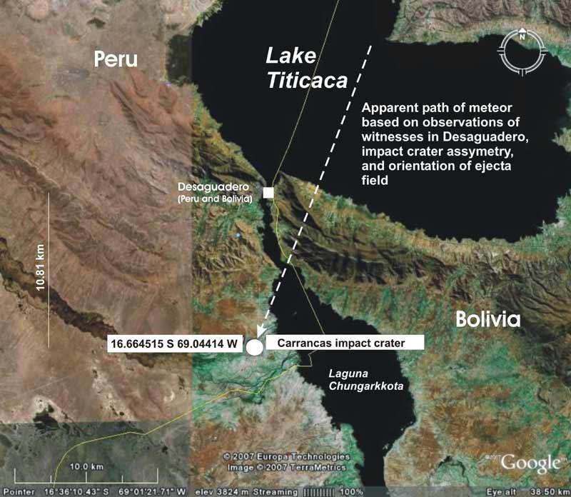 terraria how to find meteorite crash site