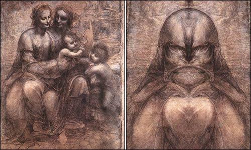 Is God's face in Leonardo da Vinci's work? -- Don't Panic ... Da Vinci Paintings Mirrored