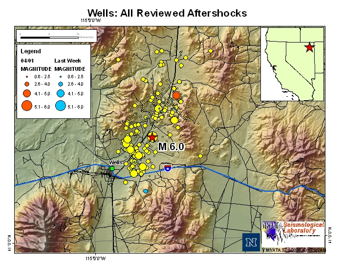 Aftershock 42 Quake In Wells Nevada  Earth Changes
