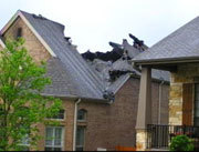 Texas house hit by lightning