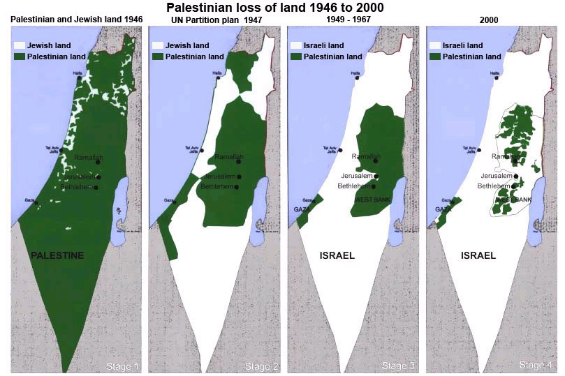 palestine map and israel map