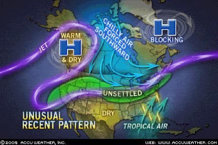 North America Jet Stream Recent Pattern Is Unusual