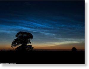 Noctilucent clouds in england