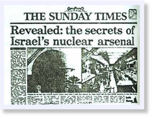 Sunday times reveals Israel nuclear
