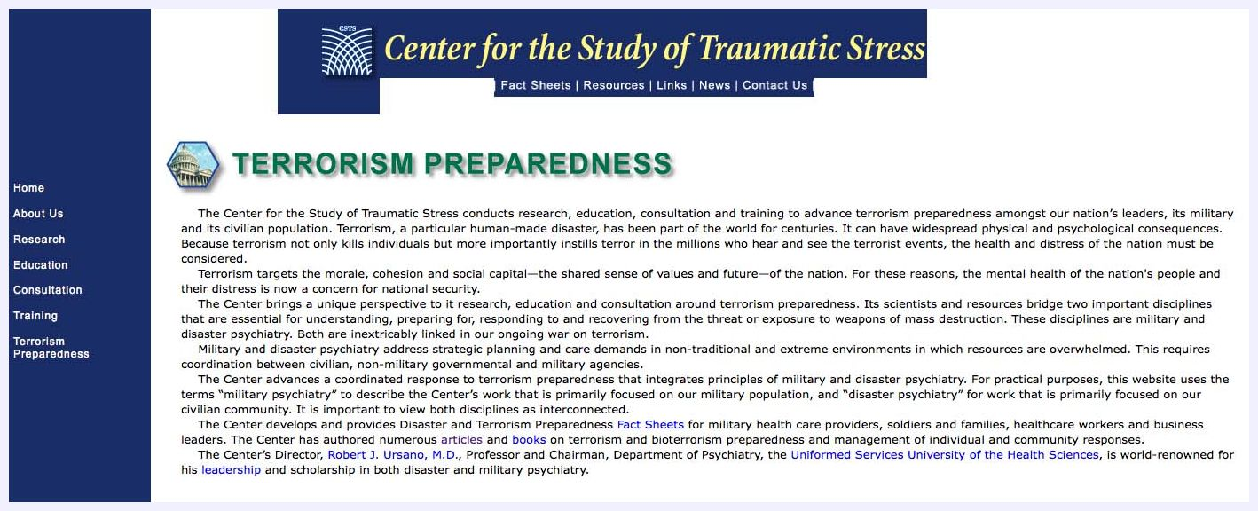 an analysis of the sociological physiological and physical effects of terrorism in a nation Symbolic interaction, often associated with interactionism, phenomenological sociology, dramaturgy, and interpretivism, is a sociological tradition that places emphasis on subjective meanings and the empirical unfolding of social processes, generally accessed through analysis.