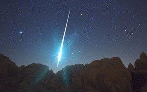 Green meteor Mojave