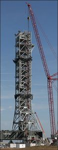 NASA mobile launch tower