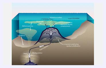 easy underwater volcano diagram scientists discover underwater asphalt volcanoes ...