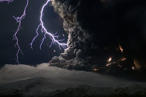 iceland volcano lightning. If you thought the volcanic