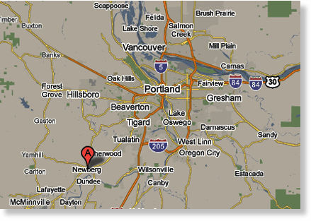 Location of Sighting: Newberg, Oregon (See Map)