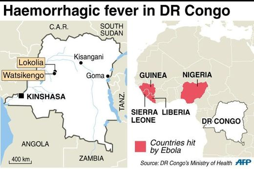 map DR Congo