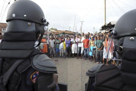 liberian security ebola