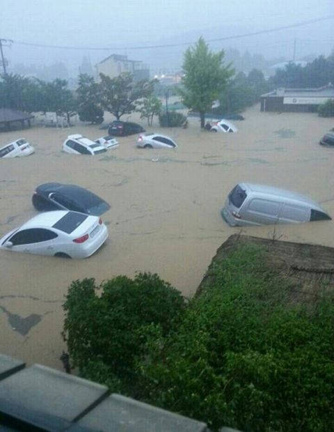 South Korea floods