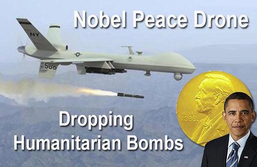 Nobel peace drone Obama