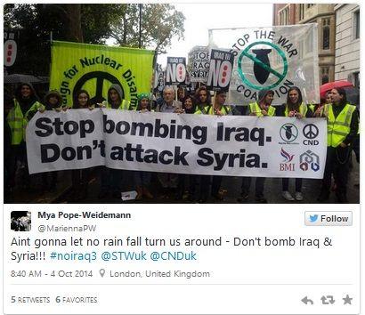 UK ISIS anti-war protests