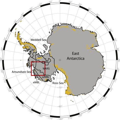 West Antarctic volcano region