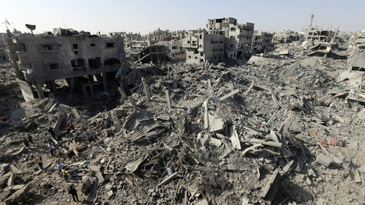 gaza destruction 2014