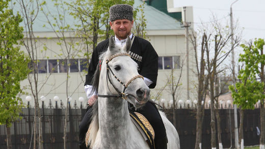 'Sanctioned' Chechen leader asks Germany to apologize to his horses after banning them from racing