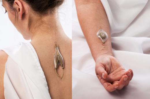 Jewelry that harvests energy from your veins