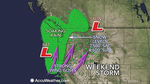 Siege of Pacific storms will continue to drench and blast the coastal U.S. Northwest