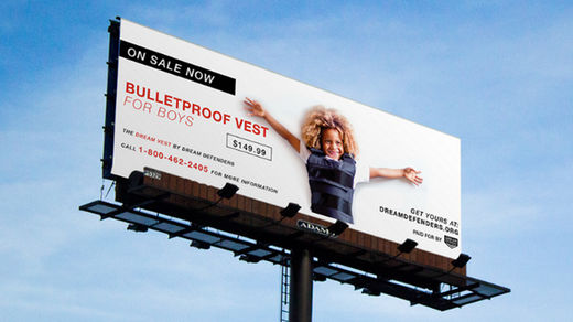 Ad campaign depicts African-American children in bulletproof vests