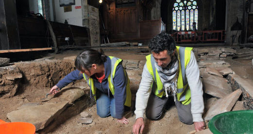 17th-century vaults unearthed in 13th-century Irish church