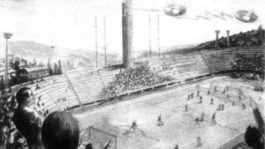 27 October 1954: The day UFOs stopped football game in Florence, Tuscany