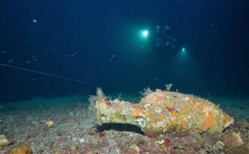 artifacts of a ship that sunk during the Punic Wars