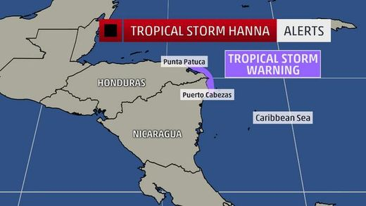 tropical storm hanna watches
