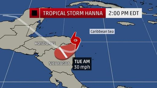 projected path storm hanna