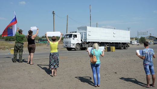 Russian humanitarian aid arrives in Luhansk, Donetsk