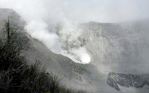 Volcan Turrialba au Costa Rica