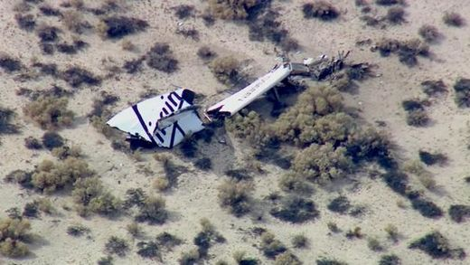 "Virgin Galactic's Spaceship Two rocket plane crashes after ""in-flight anomaly"""