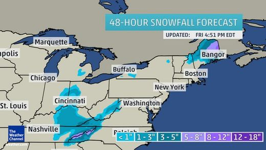 Weekend storm to bring first snowfall to New England, Great Lakes, Appalachians