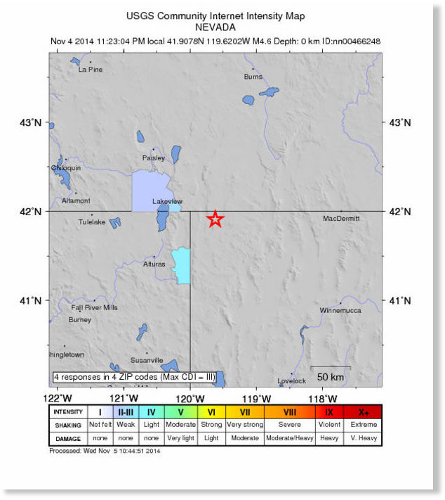 Another 49 magnitude earthquake hits OregonNevada border after