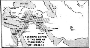 map assyrian empire