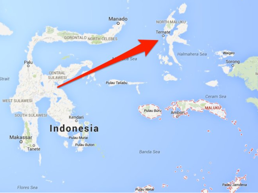 map Moluccas