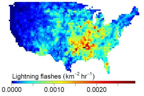 US lightning flashes 2011