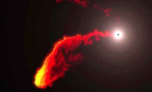 Black hole loses its appetite for gassy cloud
