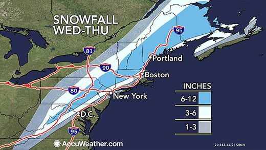 Nearly 60 million in path of East Coast, Appalachian snowstorm - 6-12 inches forecast