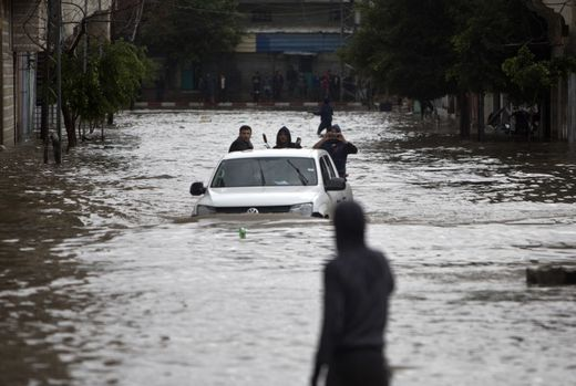UN agency declares state of emergency after heavy rains, flooding in Gaza - thousands homeless