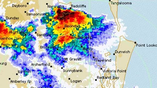 Supercell thunderstorm hits Brisbane