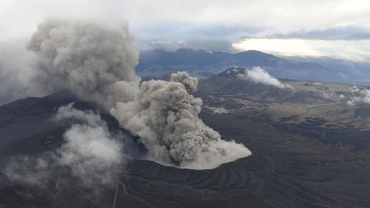 Mount Aso Volcano Eruption