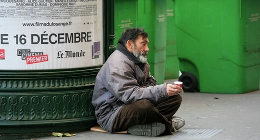 Homeless french man