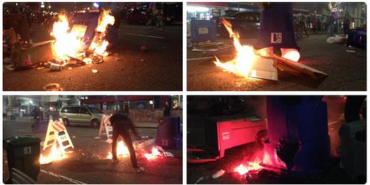 berkeley riot fires