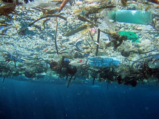 garbage in the ocean