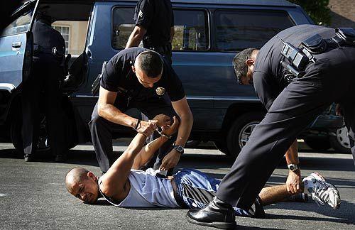 black man down